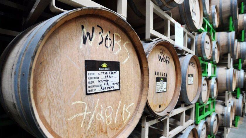 Barrels at Green Flash's Cellar 3