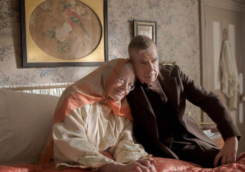 Vanessa Redgrave and Timothy Spall