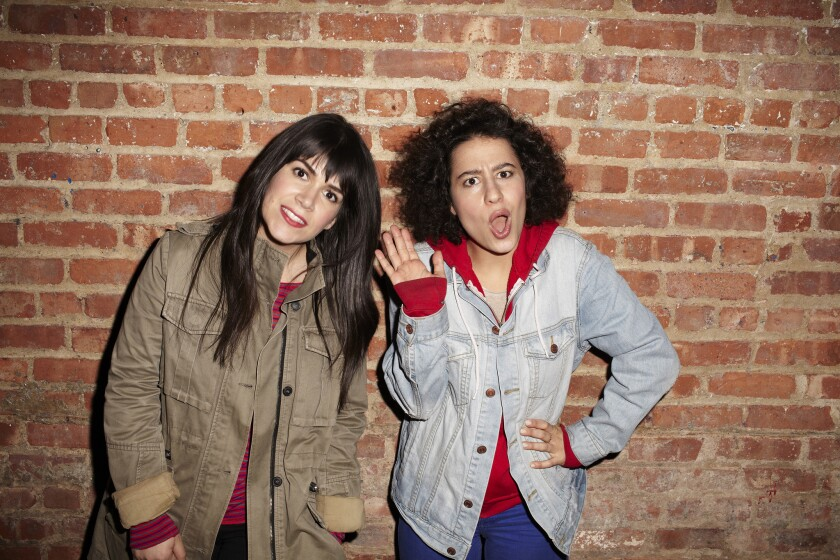 """Abbi Jacobson, left, and Ilana Glazer, the stars of Comedy Central's """"Broad City."""""""