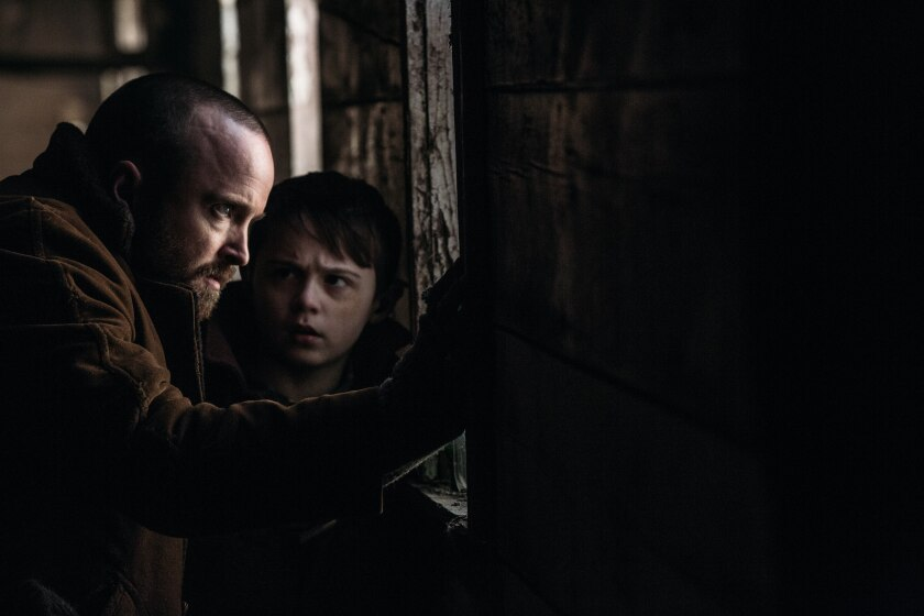 """Aaron Paul, left, and Danny Murphy in """"Parts You Lose."""""""