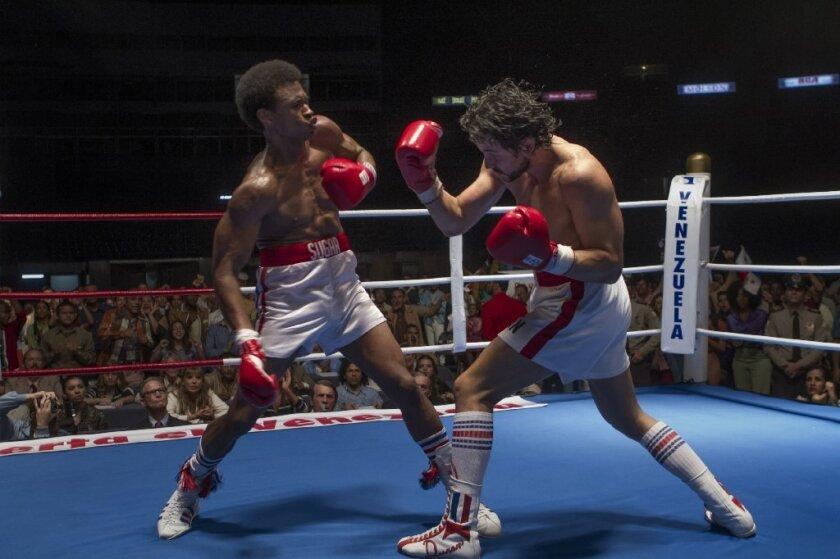 "Usher Raymond IV and Edgar Ramírez star in ""Hands of Stone."""