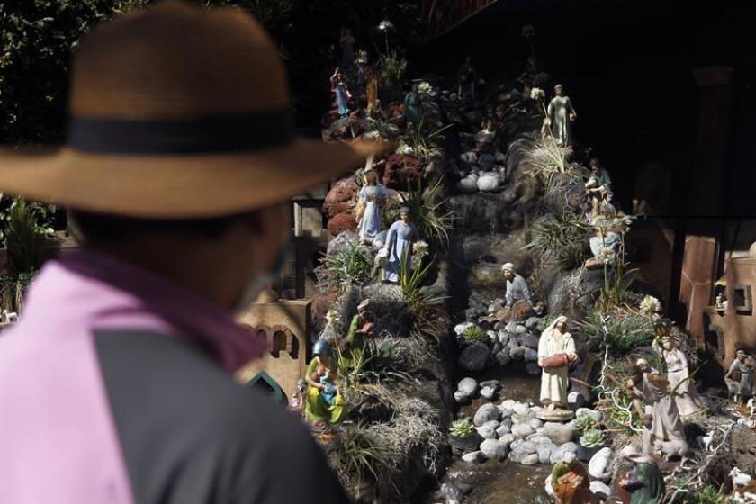 Vista general de un nacimiento monumental el pasado 27 de diciembre de 2018, en Ciudad de México (México). EFE