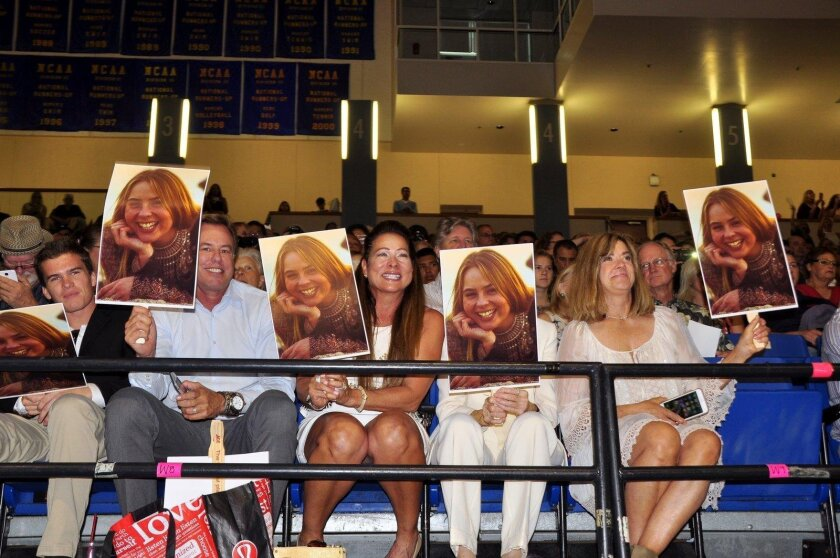 Families of graduates found many clever ways to show their support. (La Jolla High School's Class of 2016 graduation ceremony, June 21 at UC San Diego's RIMAC Arena)