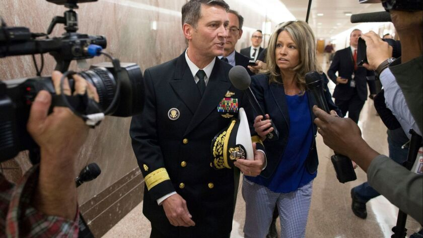 Rear Adm. Dr. Ronny Jackson, President Trump's nominee to lead the Department of Veterans Affairs.