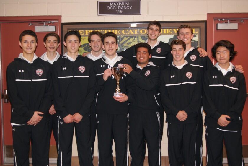 The Canyon Crest Academy boys basketball team.