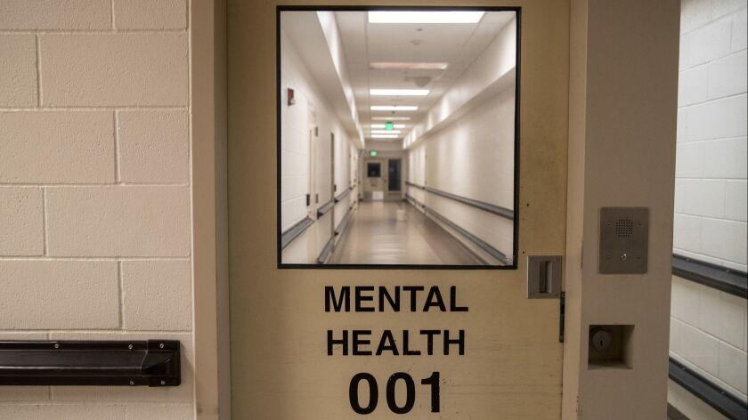 SACRAMENTO, CALIF. -- THURSDAY, JANUARY 31, 2019: A window into the mental health ward at the Sacra
