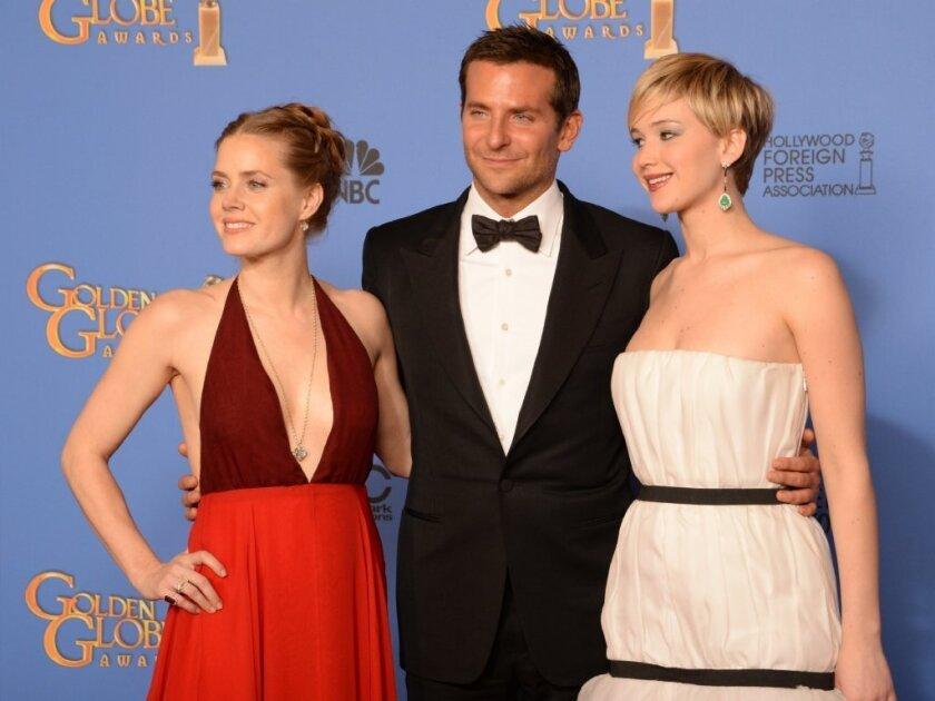 """""""American Hustle"""" cast at Golden Globes."""