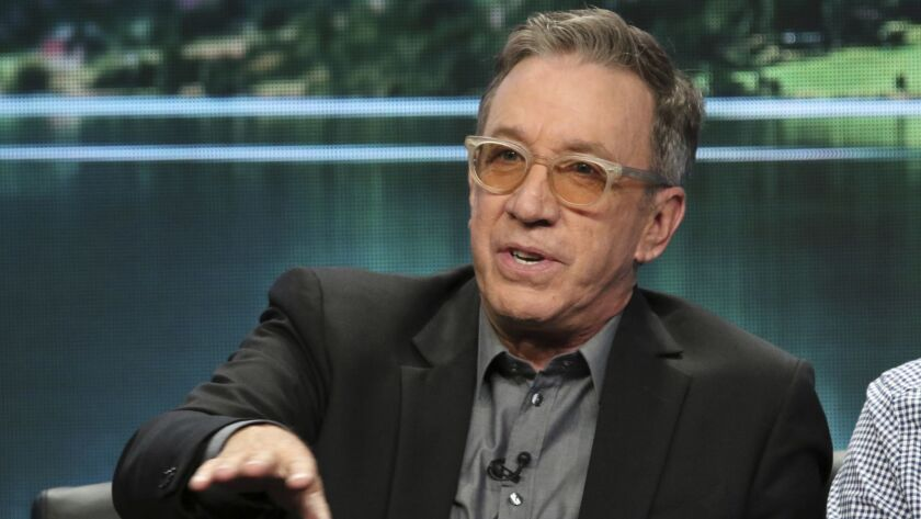 """Tim Allen participates in the """"Last Man Standing"""" panel during the Fox Television Critics Assn. Summer Press Tour in Beverly Hills."""