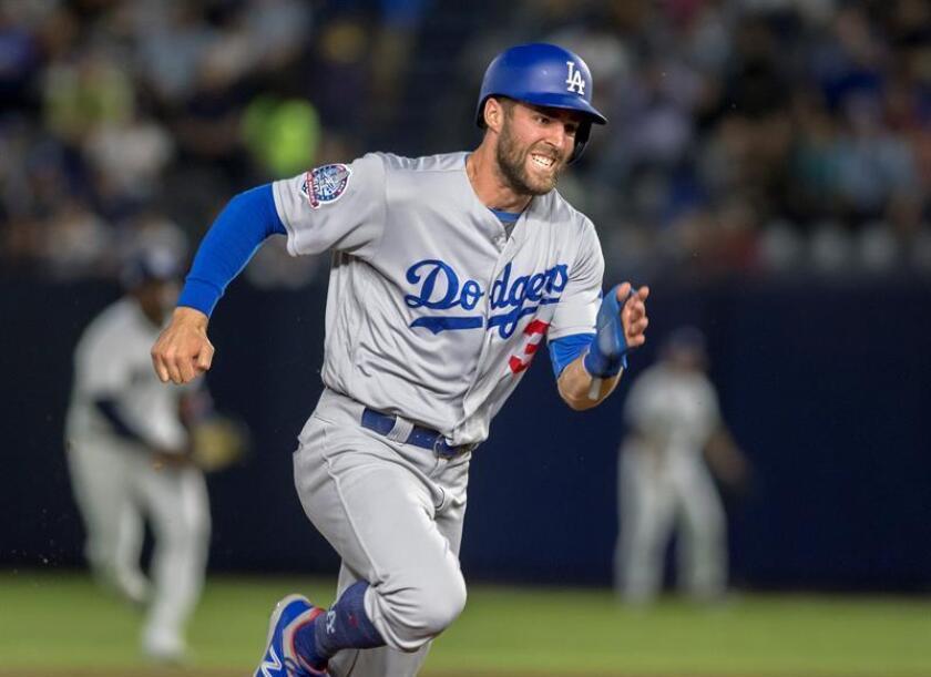 Chris Taylor de los Dodgers de Los Ángeles, en un partido ante ante Padres de San Diego. EFE /Archivo