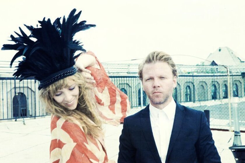 Malin Dahlstrom and Gustaf Karlof make up the Swedish duo, Nikki & the Dove.