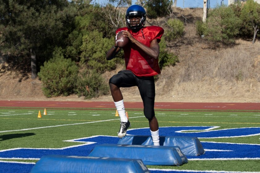 San Diego quarterback Khari Kimbrough has thrown for 593 yards in two games.