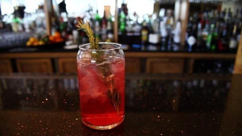 The Herbivore at Mister A's was created by Alvin Pugeda and uses artichoke liqueur. (Michael Rohan)