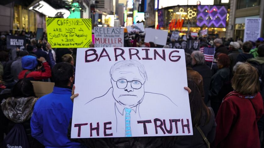 'Release The Report' Rallies Held Across The Country To Call On AG William Barr To Release The Full Mueller Report