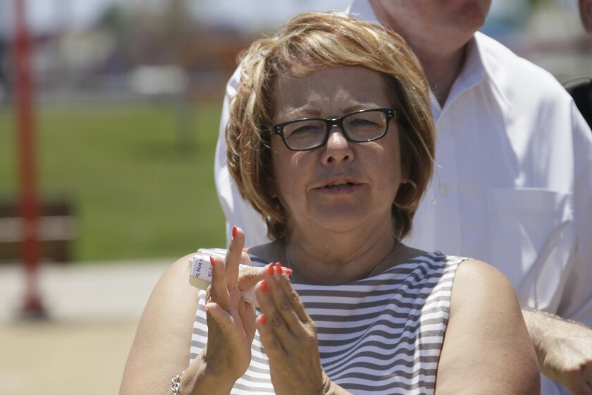 Maria Elena Durazo is leaving the Los Angeles County Federation of Labor.