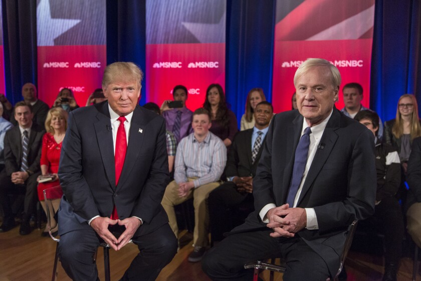 Donald Trump at MSNBC town hall in March
