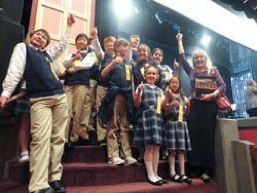 The Cambridge School winners.