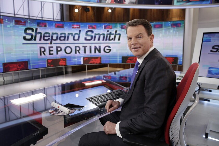 "FILE - In this Jan. 30, 2017, file photo, Fox News Channel chief news anchor Shepard Smith appears on the set of ""Shepard Smith Reporting"" in New York. Smith, whose newscast on Fox News Channel seemed increasingly an outlier on a network dominated by supporters of President Trump, says he is leaving the network. He has worked at Fox News Channel since the network started in 1996. In a statement, Smith said he had asked the company to let him leave. He gave no reason for the seemingly sudden decision. (AP Photo/Richard Drew, File)"