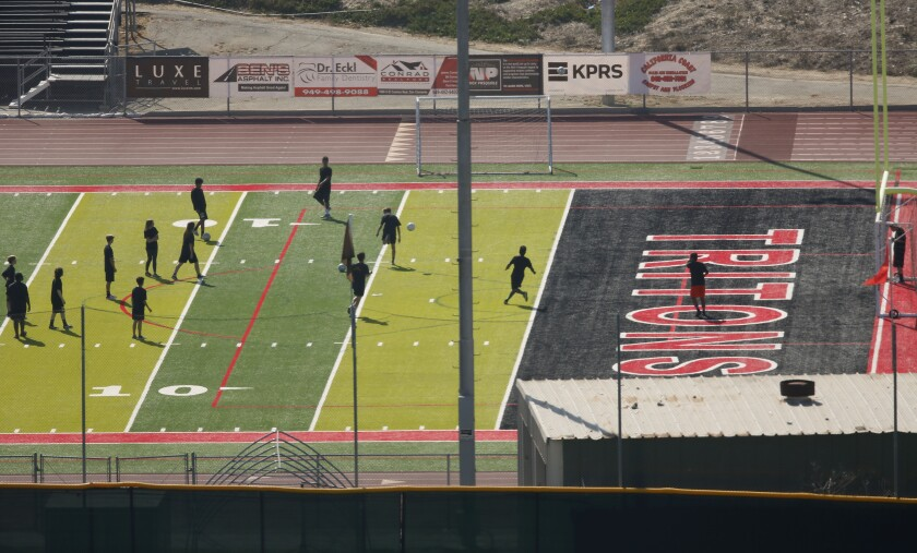Lincoln High School played a football game against San Clemente High at Thalassa Stadium on Sept. 13, seen here three days later.