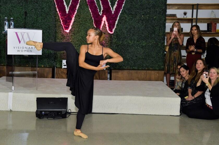 A dancer from the Debbie Allen Dance Academy performs.