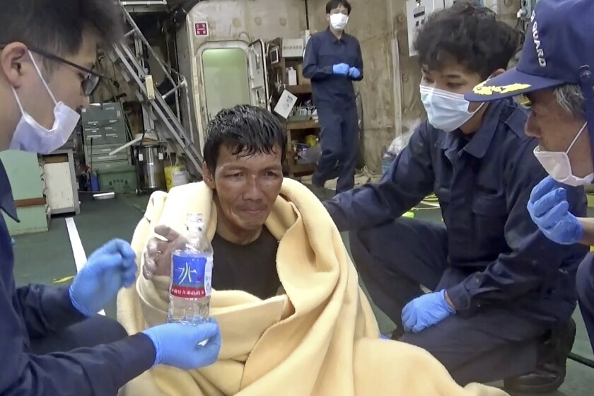 Edvardo Sareno, rescued crew member of sunken livestock ship