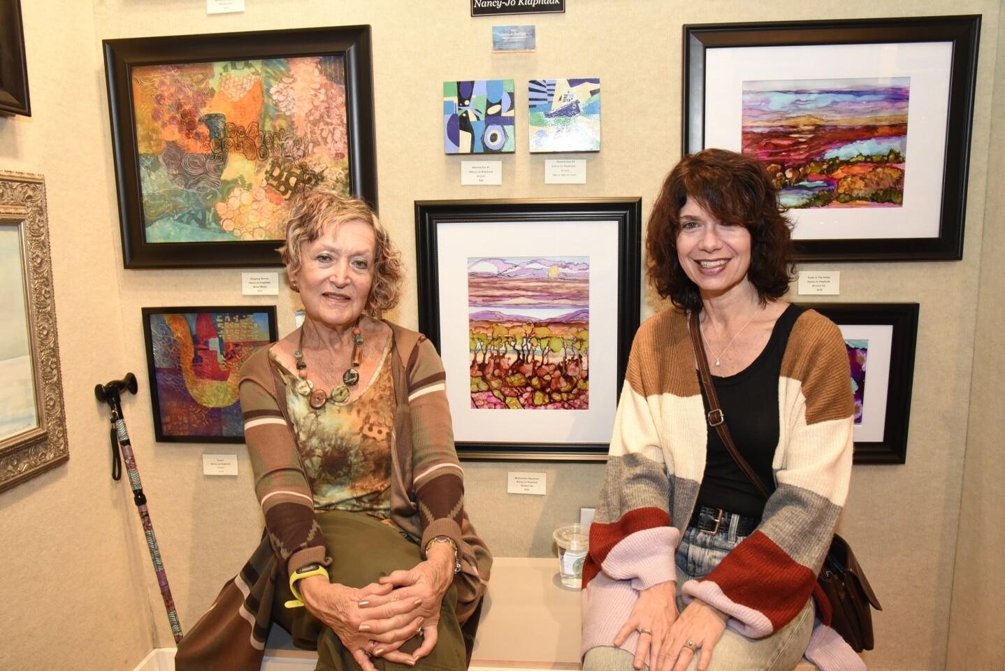 Art admirers Lainie Dubnicoff and Amy Burrows