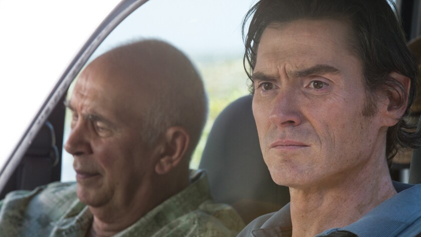"Frank Langella, left, and Billy Crudup in the movie ""Youth in Oregon."""