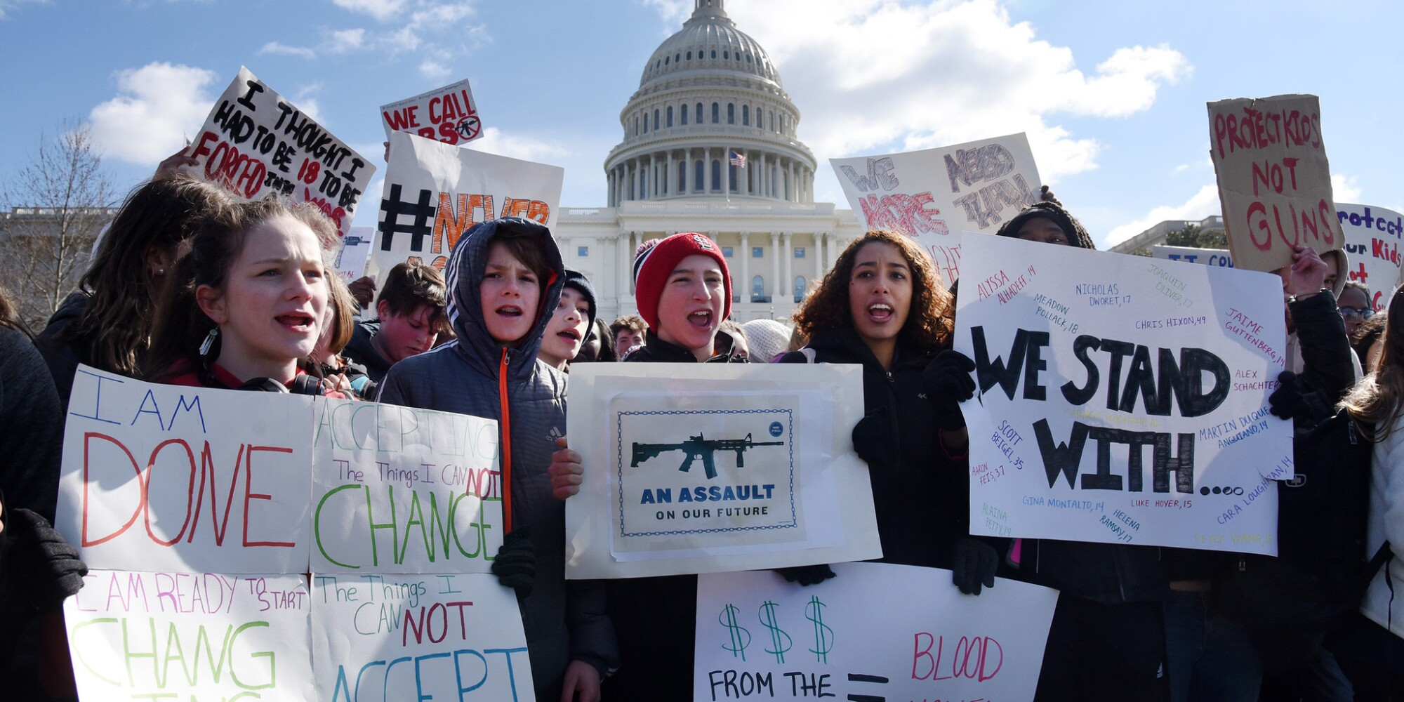 Walkout Wednesday: Students march out of schools nationwide to protest gun violence