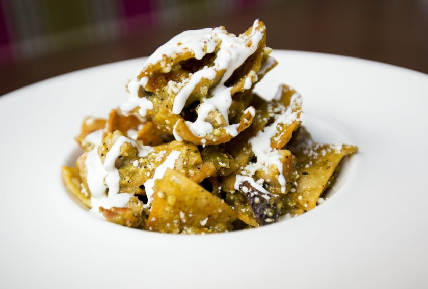Chilaquiles are among the Mexican-inspired items on the brunch menu at Parq.