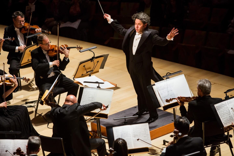Gustavo Dudamel conducts the LA Phil in Benjamin Britten's Young Apollo, Op.16, at the Walt Disney Concert Hall.