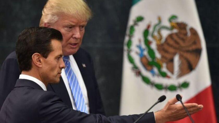 La reunión, según el presidente Peña, forma parte de la invitación que hizo a los dos candidatos presidenciales de Estados Unidos.