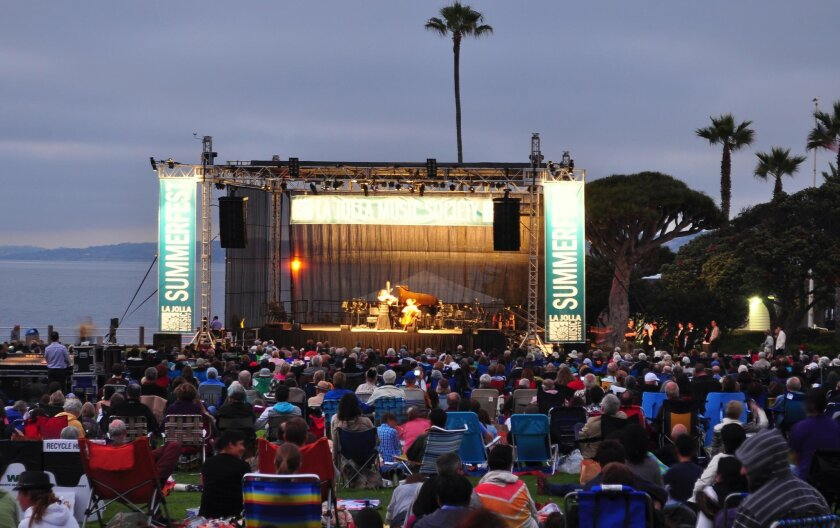 La Jolla Music Society's 2016 SummerFest concert series kicks off with the free event, SummerFest Under the Stars, 6:30 p.m. Aug. 3. Time for Three — known for mashing up pop hits with classic sounds — performs at La Jolla Cove's Ellen Browning Scripps Park.