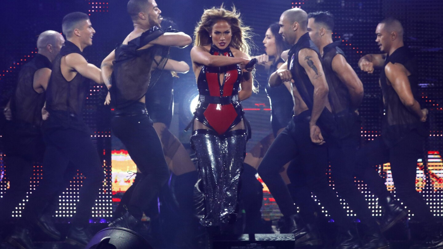 J Lo performs in the CALIBASH concert at Staples Center.
