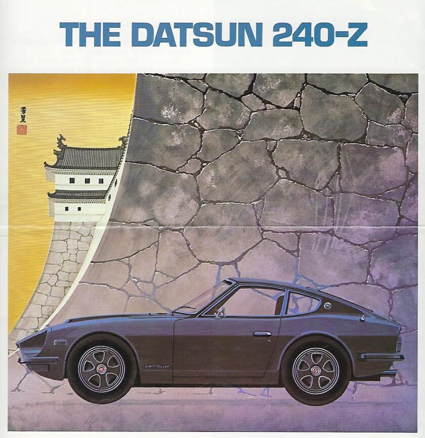 1972 Datsun 240-Z brochure cover