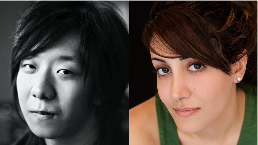 Kevin Zhang (left) and Gity Razaz