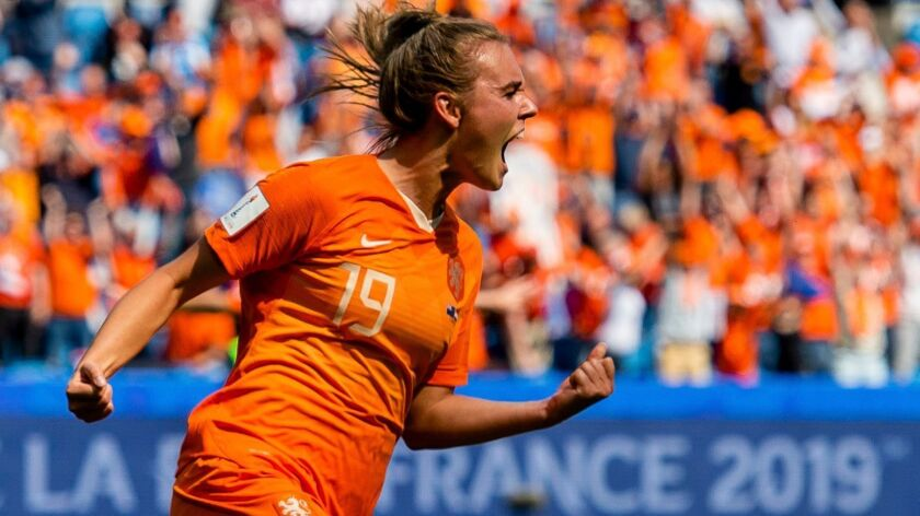 Jill Roord and the Netherlands will be looking for a win Saturday to advance out of group play.