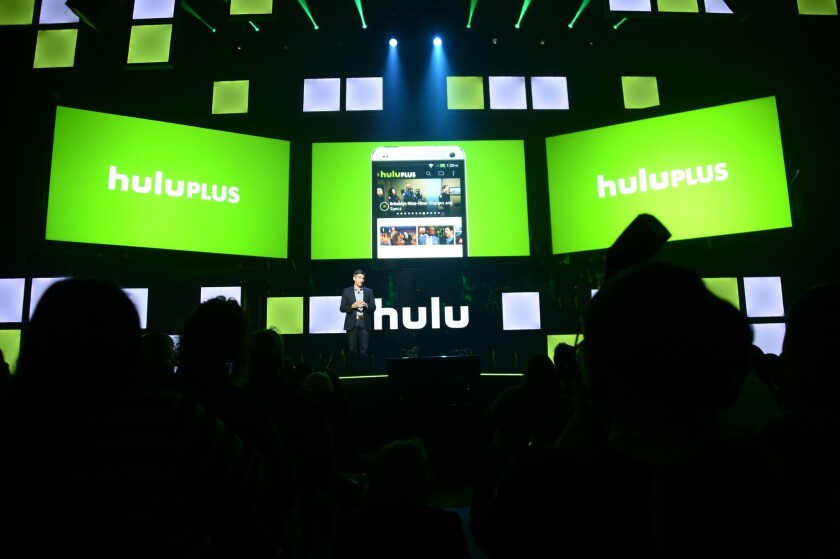 Hulu Chief Executive Mike Hopkins appears in 2014 in New York.