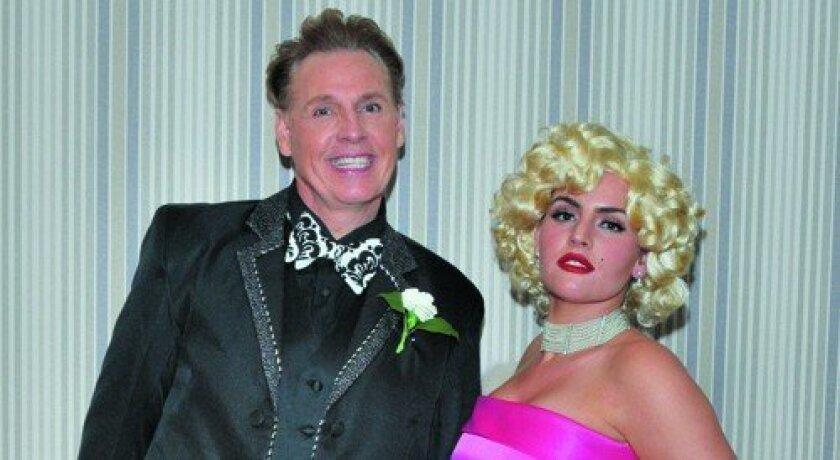 Leonard Simpson and daughter Britney Simpson, appearing as Marilyn Monroe