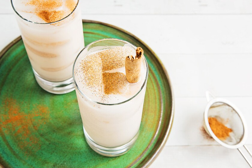 A lightened-up version of horchata is dairy-free, gluten-free and vegan.
