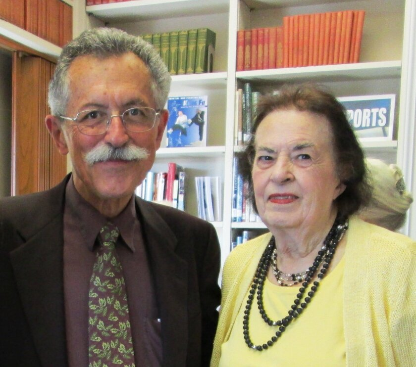 Nan Werner in November 2013 with RSF Library Guild Board President Art Yayanos. Courtesy photo
