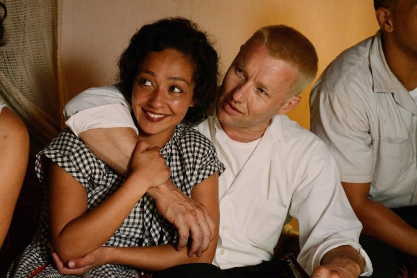 """Ruth Negga and Joel Edgerton in a scene from the movie """"Loving,"""" directed by Jeff Nichols."""