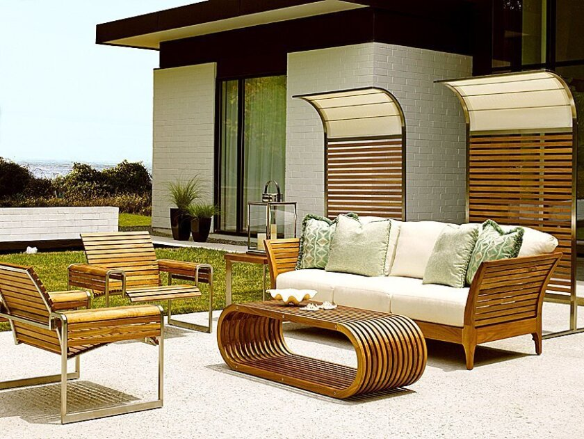 The outdoor furniture collection available at Nativa Interiors can be a natural extension of interior space.