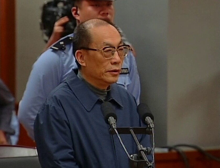 Ex-China railways minister given death sentence in corruption case