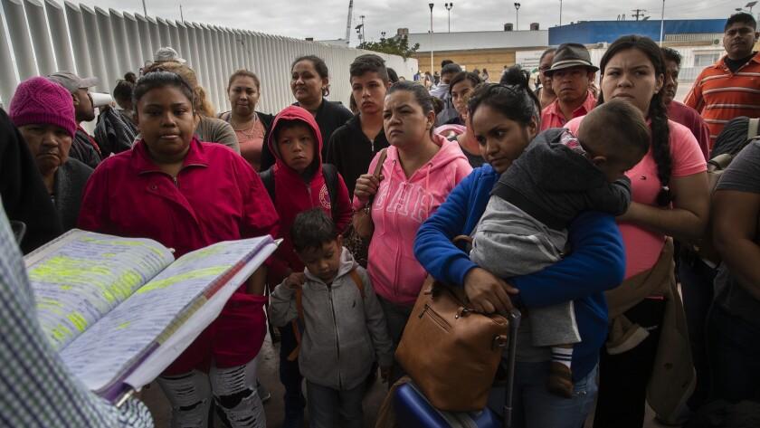 Immigrants seeking asylum in U.S. assembled in Tijuana, Mexico