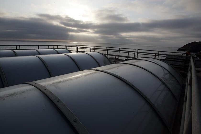 Tanks hold treated sewage at the Point Loma Wastewater Treatment Plant. That facility performed well during the Sept. 8 regional power outage, but failures in other parts of the utility systems have lead to calls for an overarching assessment of vulnerabilities.