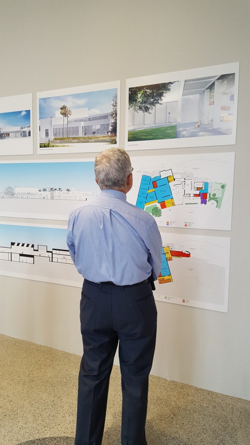 Plans for the expansion of the Museum of Contemporary Art San Diego in La Jolla are posted in the lobby at 700 Prospect St., and visible during business hours.