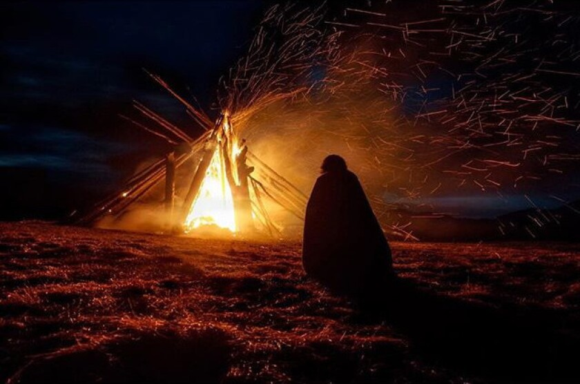 Dwelling ablaze