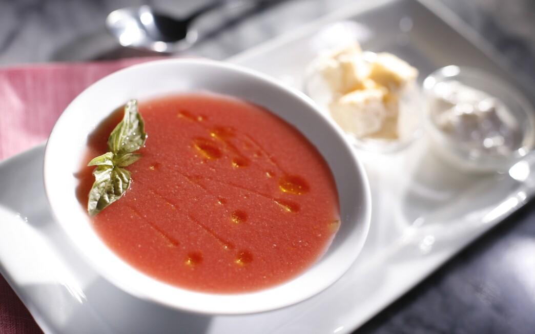 Obika's chilled organic tomato soup