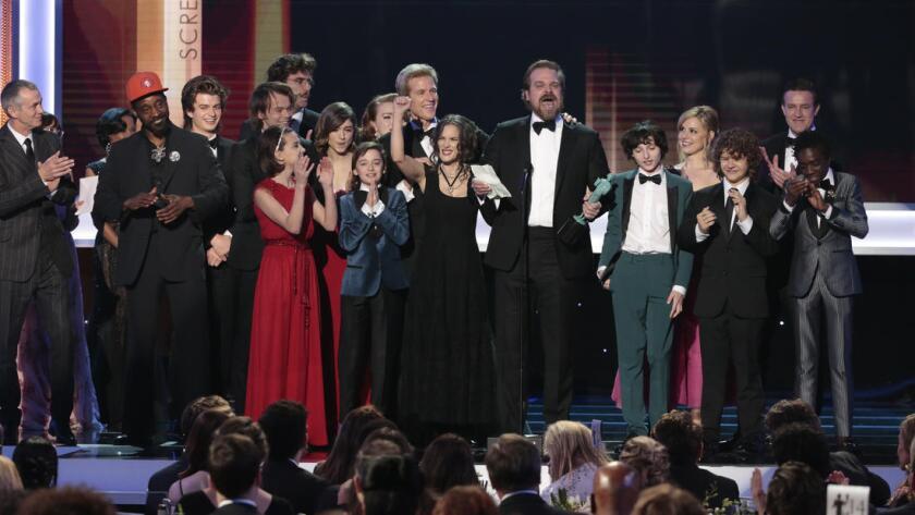 'Stranger Things' ganó en la categoría de mejor drama. Robert Gauthier / Los Angeles Times