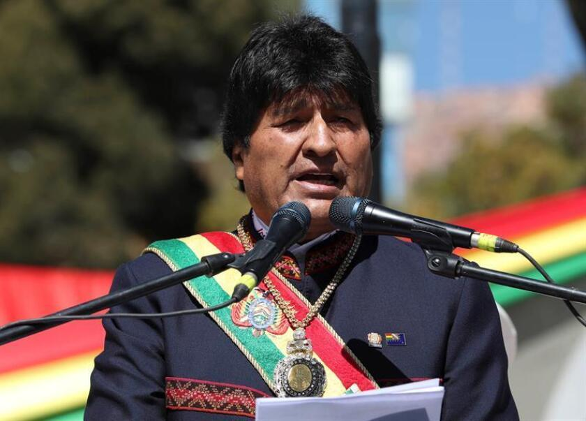 Vista del presidente de Bolivia, Evo Morales. EFE/Archivo