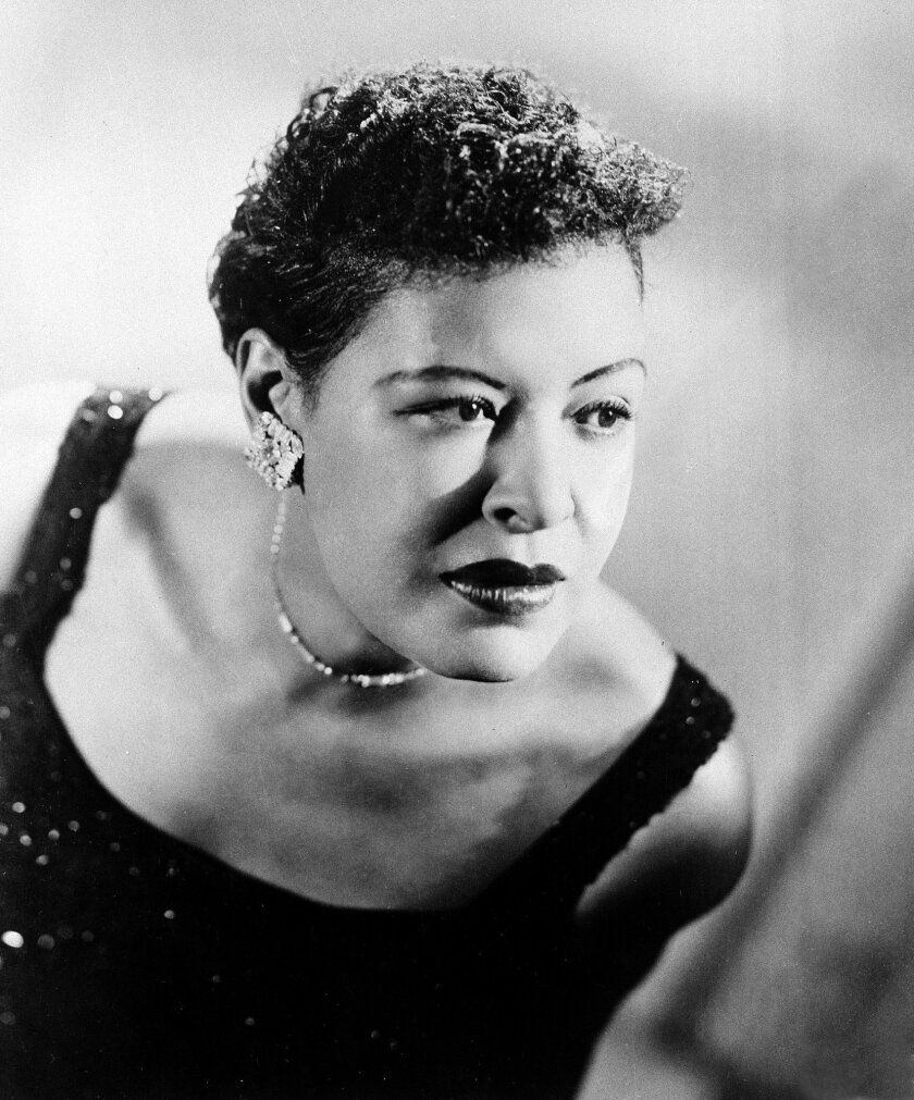 This Sept. 1958 file photo shows Billie Holiday, the jazz vocal icon who died in 1959 at the age of 44. She will be saluted at Saturday's Jazz at the Jacobs concert, presented by the San Diego Symphony.